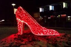 Kvetinová topánka - osvetlenie